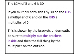 Solving Linear Equations with Fractions example 4.3